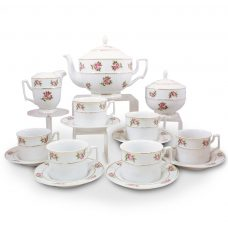 Liliane 15 Piece Porcelain Tea Set - 21 Carat Gold Accent