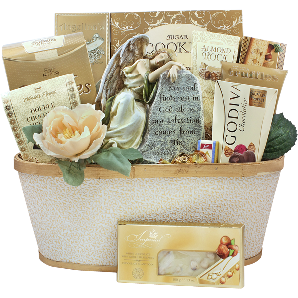 Angel from above - Sympathy gift basket