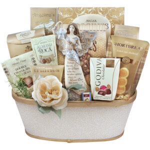 Angel Figurine Sympathy Gift Basket - Stars In The Sky
