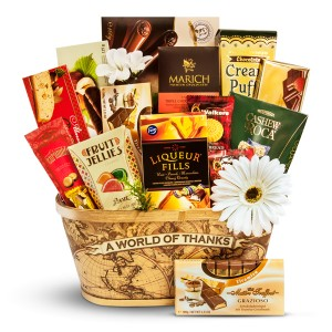 A World of Thanks - Appreciation gift basket