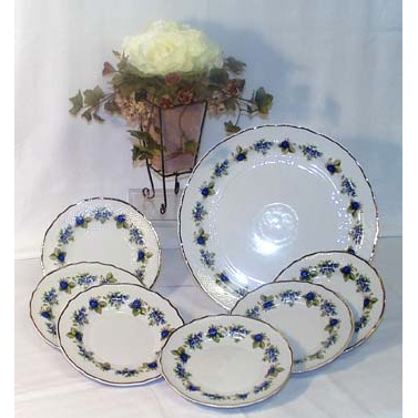 Blackberry Cake Set Fine Porcelain Hollohaza