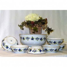 Blackberry Compote Set Fine Porcelain Hollohaza