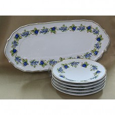 Blackberry Sandwich Set Fine Porcelain Hollohaza