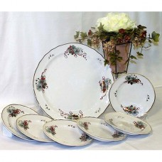 Eva Christmas Design Cake Set Fine Porcelain Hollohaza
