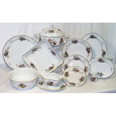 Eva Christmas Design Dinner Set Fine Porcelain Hollohaza