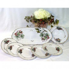 Eva Christmas Design Sandwich Set Fine Porcelain Hollohaza