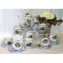 Eva Christmas Design Tea Set Fine Porcelain Hollohaza