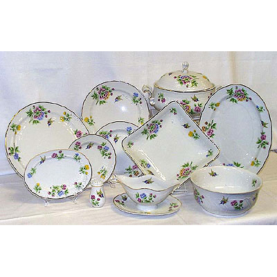 Hortenzia Dinner Set Fine Porcelain Hollohaza
