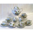 Hortenzia Tea Set Fine Porcelain Hollohaza