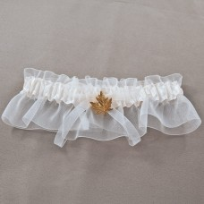 Nature's Beauty Ivory Wedding Garter