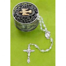 Pewter Keepsake Box With Rosary Confirmation