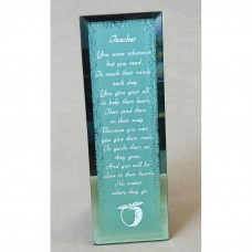 Teacher Gifts Glass Plaque