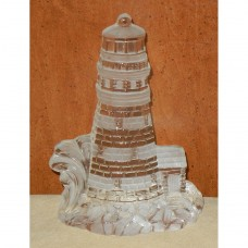 Lighthouse Glass Block Figurine