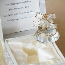 25th Anniversary Gifts Glass Bell in Gift Box