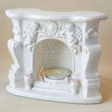 Fireplace T-light Holder with Cherubs