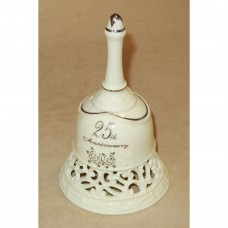25th Anniversary Gifts Porcelain Bell