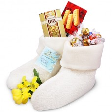 Warming Booties and Chocolates