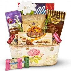 Cheerful Spring Delight - Adult Easter Gift Baskets