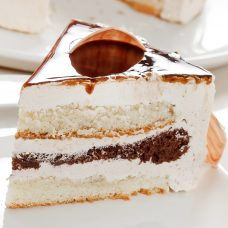 Chocolate Vanilla Marbles Cream Cake
