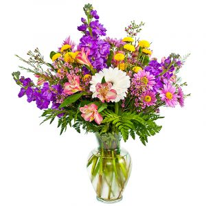 Sending You Happy Wishes Colorful Flower Assortment