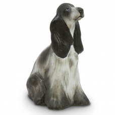Spaniel Porcelain Figurine by Hollohaza