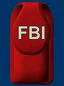 FBI Glow In The Dark Cell Phone Holder