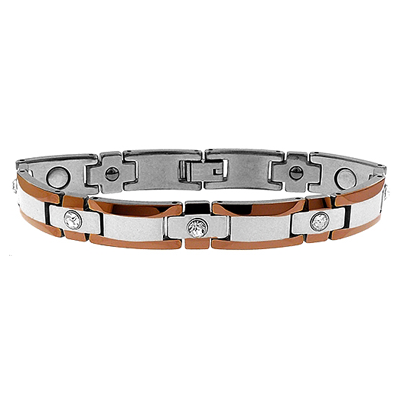 Stainless Steel Tungsten Bracelet with Crystals