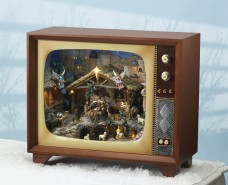 Musical Large Nativity TV with LED lights