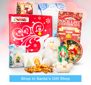 Letters and Gifts from Santa - Send Nice lList Certifiicates, Santa Packages with cookies, chocolates, and More