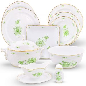 Intersica Dinner Set Hand Painted - 21 Carat Gold Accent