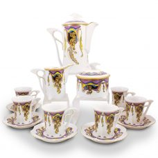 Secessio Porcelain Mocca Set – 21 Carat Gold Accent