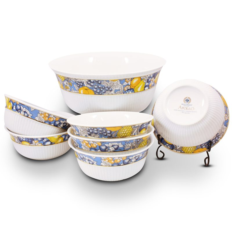 Fruits Porcelain Compote Set - 21 Carat Gold Accent