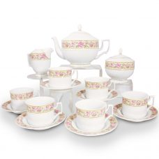 Katalin Tea Set Fine Porcelain - 21 Carat Gold Accent