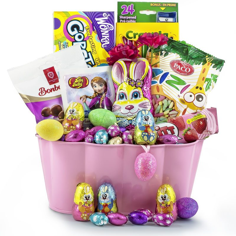 Hopping Bunny Chocolate Basket - Easter Sweet Basket