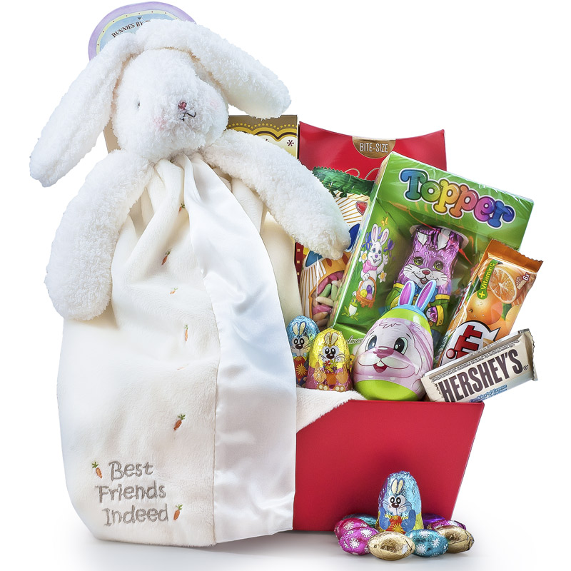Baby Bunny with Blanket - Easter Chocolate Basket