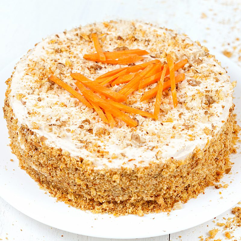 Classic Cream Cheese Carrot Cake 8″ - Traditional
