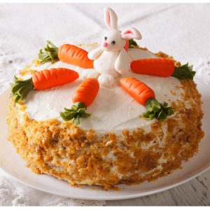 Easter Bunny Carrot Patch Cake