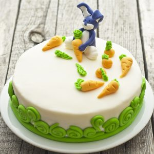 Carrot Patch Bunny White Chocolate Cake