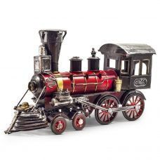 Red Metal Train Vintage Style Collectable Gifts for Men