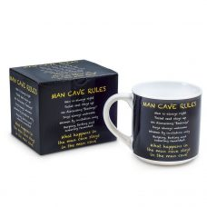 Man Cave Rules Inscription Mug