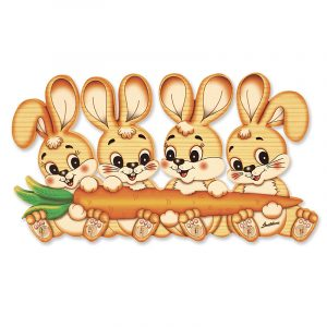 Bunny Family Clothes Hanger for Kids Rooms