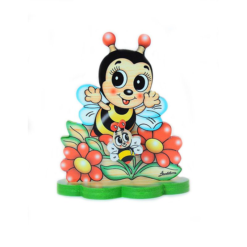 Bee in Flower Garden Table Music Box
