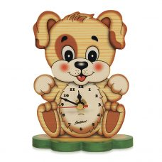 Cute Puppy Table Clock