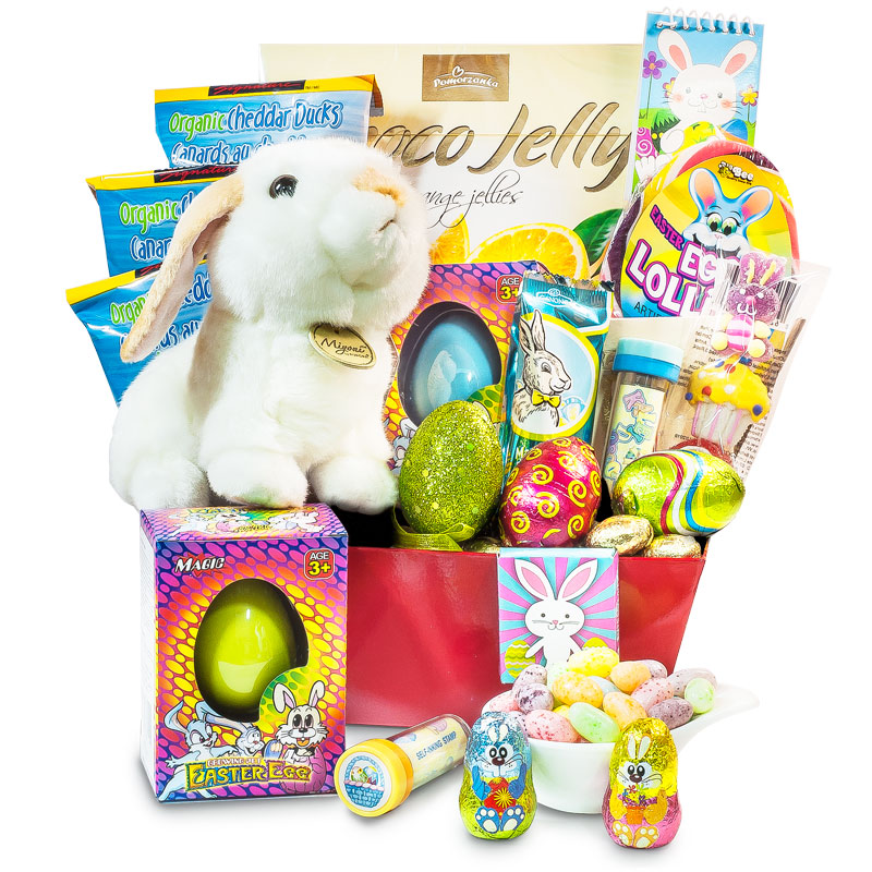 Happy bunny easter gift basket delivery in ontario negle Choice Image