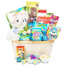 Floppy Bunny Chocolate Basket Precious Moments