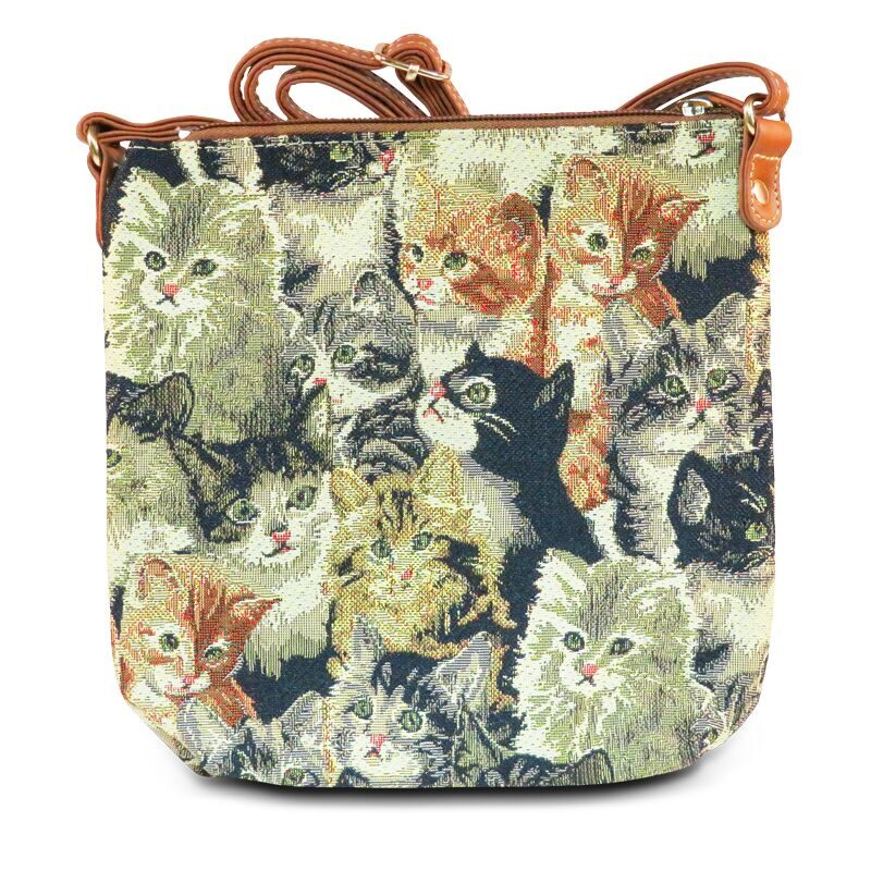 Tapestry Cats Cross-body Purse