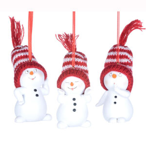 Snowman with Wool Hat