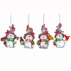 Country Snowman Ornament