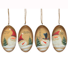 Oval Wood Ornament