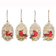 Gift tag Cardinal Ornament